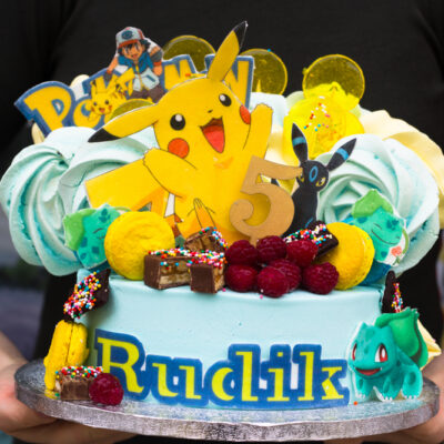 Dětský narozeninový dort  Pokemon 8 (3 kg, 1950 kč)