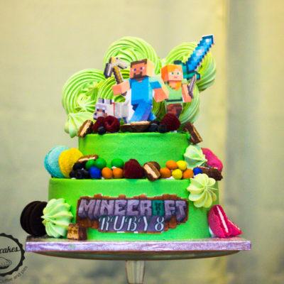 Dětský dort na objednávku Minecraft 8