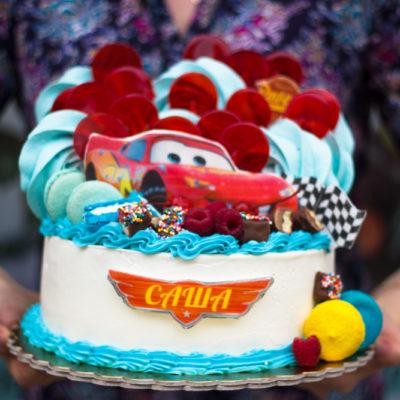 Dětský dort na narozeniny Autíčka 3
