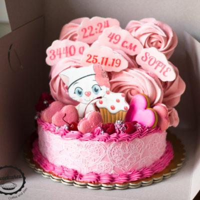 Dětský dort na narozeniny Koťátko