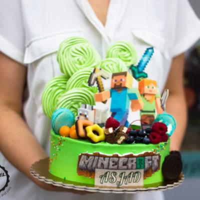 Dětský narozeninový dort  Minecraft 7