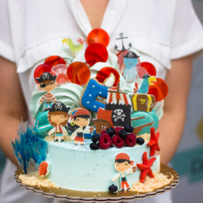 Dětský narozeninový dort Piráti 2