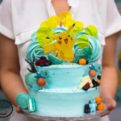 Dětský narozeninový dort Pokemon 7 (4 kg, 2500 kč)