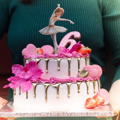 Dvoupatrový dětský dort Balerína