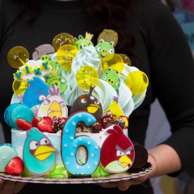 Dětský narozeninový dort  Angry Birds