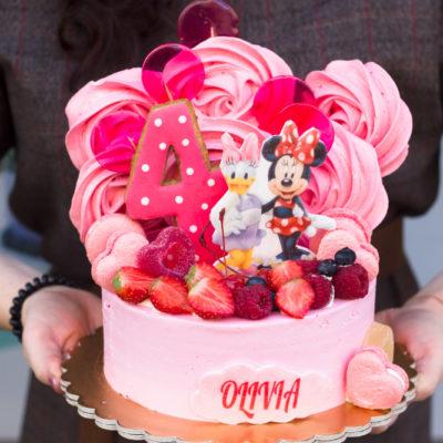 Dětský narozeninový dort Minnie & Daisy (2 kg, 1450 kč)