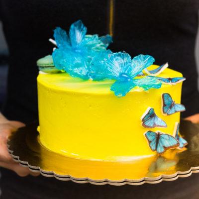 Narozeninový dort Modré motýlky 2