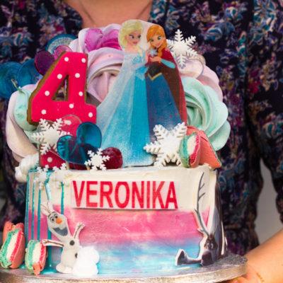 Dětský dort na objednávku Frozen 7