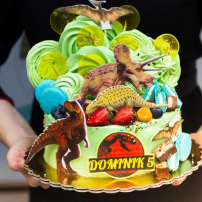 Dětský dort na objednávku Dinosaurus 7 (2 kg, 1450 kč)