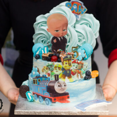 Dvoupatrový dětský dort na narozeniny Baby Boss 2