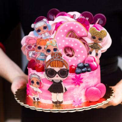 Dětský dort na objednávku LOL 18 (2 kg, 1450 kč)