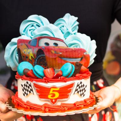Dětský dort na objednávku Autíčka 2