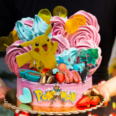 Dětský narozeninový dort Pokemon 6 (2 kg, 1450 kč)