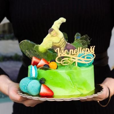 Dětský dort na objednávku Hulk 3