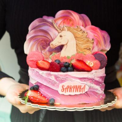 Dětský narozeninový dort Jednorožec 9