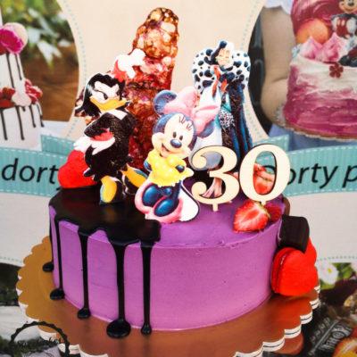 Dětský narozeninový dort Minnie & Daisy 2 (2 kg, 1450 kč)