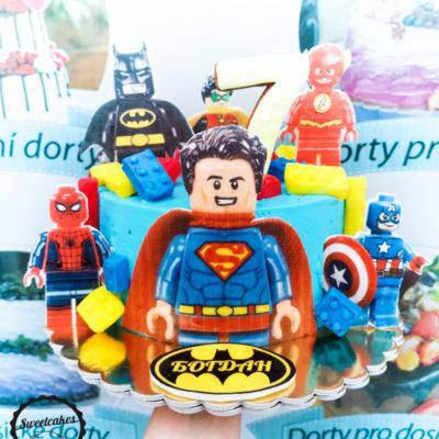 Dětský dort na objednávku Superman 3 (2 kg, 1450 kč)