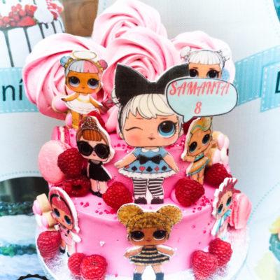Dětský narozeninový dort LOL 25 (4 kg 2500 kč)