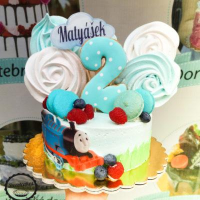 Dětský narozeninový dort Tomáš 4 (1,5 kg, 1200 kč)