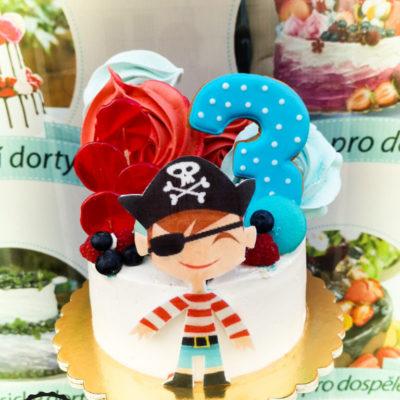Dětský narozeninový dort Pirát 2 (1,5 kg, 1200 kč)