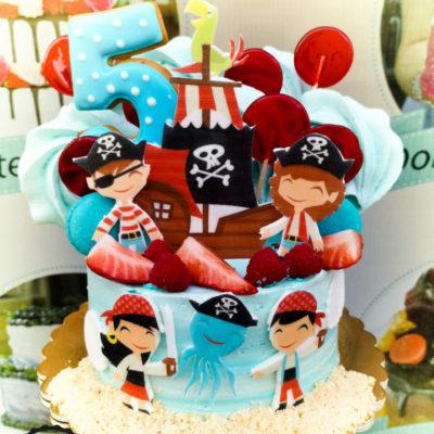 Dětský narozeninový dort Pirát 3 (1,5 kg, 1200 kč)