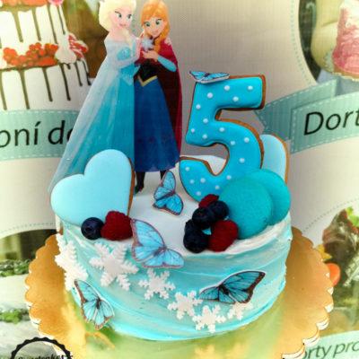 Dětský narozeninový dort Frozen 12 (1,5 kg, 1200 kč)