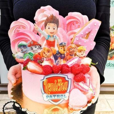 Narozeninový dort pro holku Tlapková patrola 7 (1,5 kg 1200 kč)