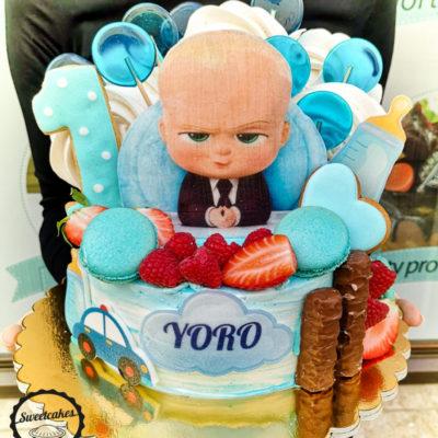 Dětský narozeninový dort Baby Boss 3