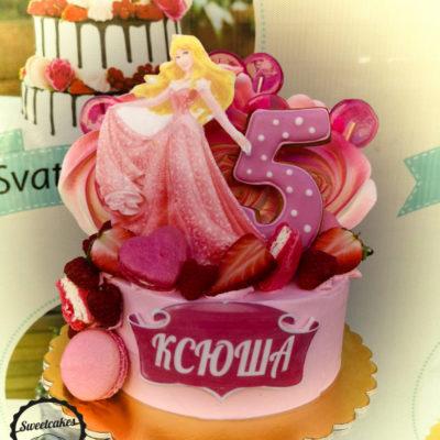 Dětský narozeninový dort Popelka