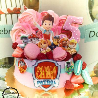 Dětský narozeninový dort Tlapková Patrola 6 (2 kg 1450 kč)