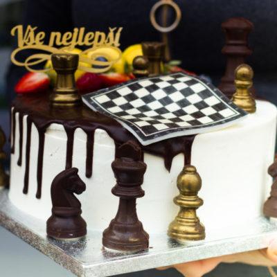 Narozeninový dort pro muže Šachy 2 (3 kg, 1950 kč)