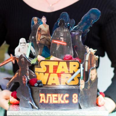 Dvoupatrový dort na narozeniny Star Wars 2 (4 kg, 2500 kč)