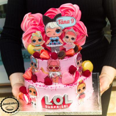 Dětský narozeninový dort LOL 22 (4 kg, 2500 kč)