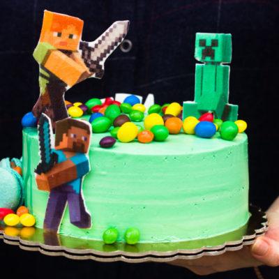 Dětský narozeninový dort Minecraft 10