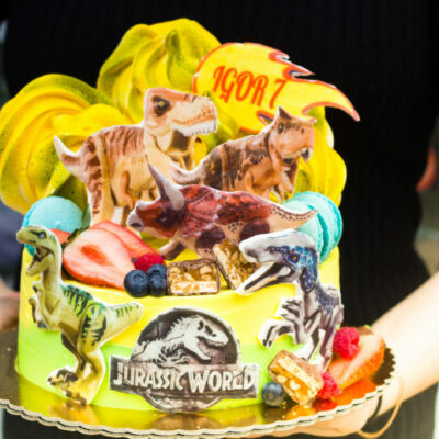 Dětský narozeninový dort pro kluka Jurassic Park 2