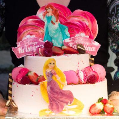 Dětský narozeninový dort Rapunzel