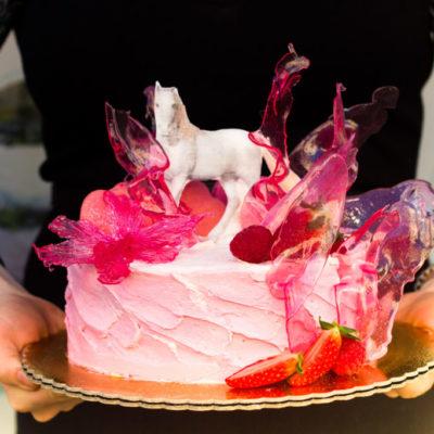 Dětský narozeninový dort Bílý kůň