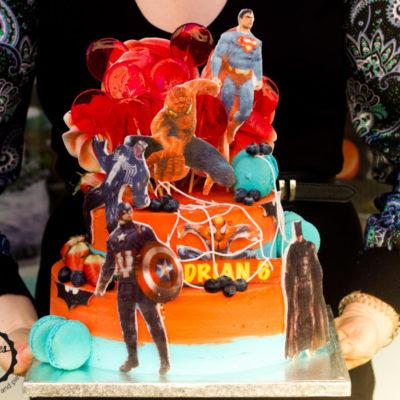 Dětský narozeninový dort pro kluka Superhrdinové