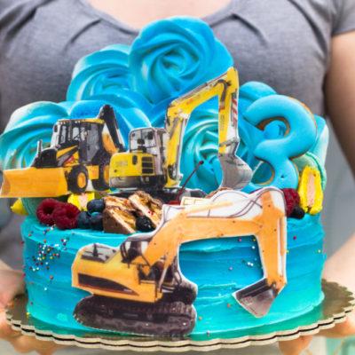 Dětský dort na objednávku Žlutý Bagr