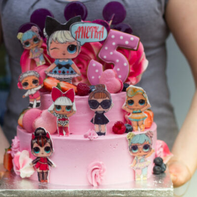 Dětský dort na narozeniny LOL 21 (4 kg 2500 kč)