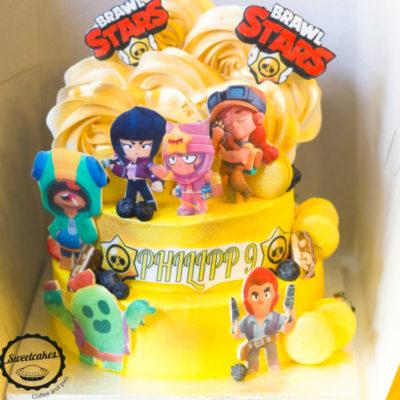 Dětský narozeninový dort Brawl Stars