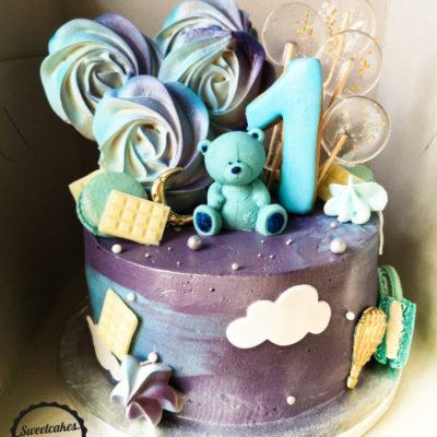 Dětský narozeninový dort Medvídek 4 (3 kg, 1950 kč)