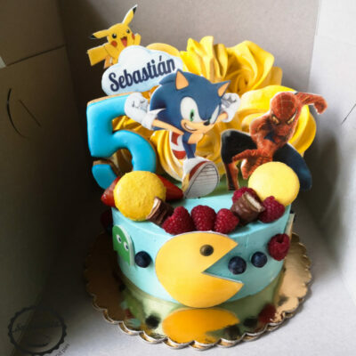 Dětský dort na narozeniny Pacman (1,5 kg, 1200 kč)