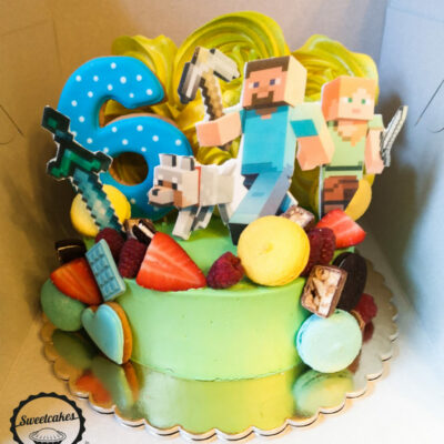 Dětský narozeninový dort Minecraft 14 (2 kg, 1450 kč)