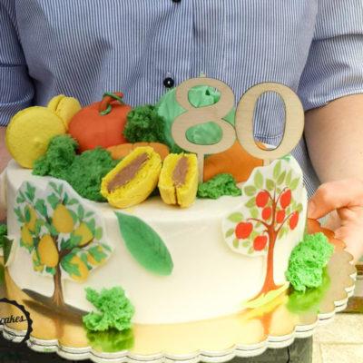 Narozeninový dort Zahrada (2,5 kg, 1700 kč)