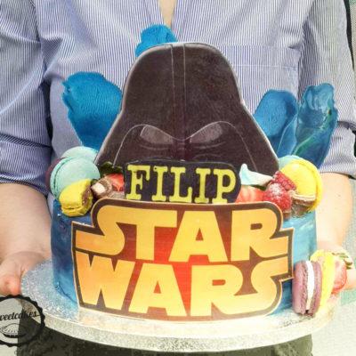 Narozeninový dort Star Wars 4 (3 kg, 1950 kč)
