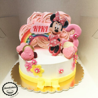 Dětský narozeninový dort Minnie 4 (2 kg, 1450 kč)