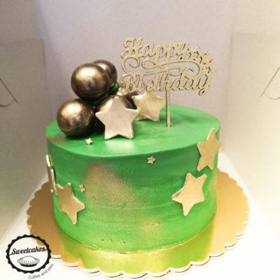 Narozeninový dort pro muže Zlaté hvězdy