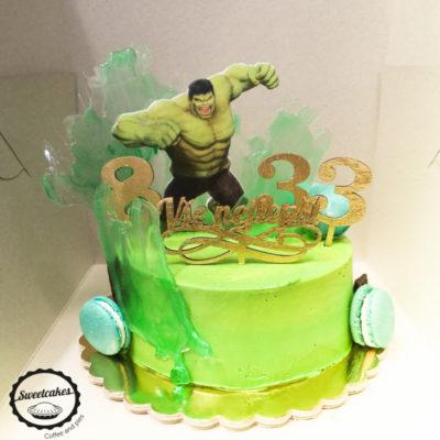 Dětský dort na narozeniny Hulk 4 (1,5 kg, 1200 kč)