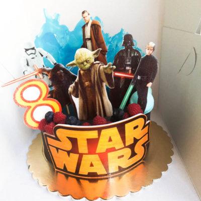 Narozeninový dort Star Wars 6 (1,5 kg 1200 kč)